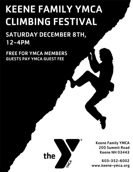 Rock Climbing Photo: Keene Family YMCA Climbing Festival Poster