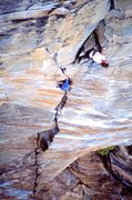 Rock Climbing Photo: Peter Croft and Dave Shultz on the Crucifix  Photo...