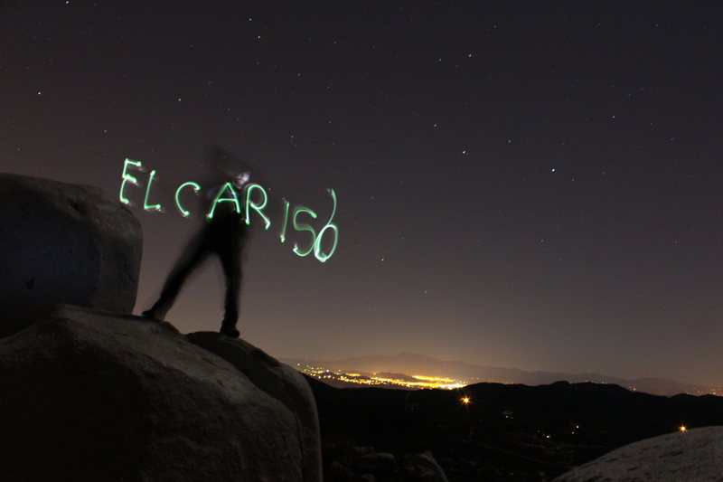 Rock Climbing Photo: jeff light painting