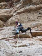 Rock Climbing Photo: A happy self at the anchors of Escuala de Calor.