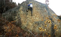 "Rock Climbing Photo:  ""Beyond The Wall"", V1 along the Catarac..."