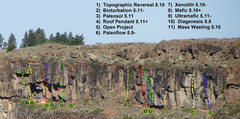 Rock Climbing Photo: Wall overview.