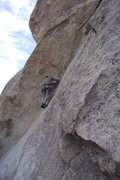 Rock Climbing Photo: Beginning the hard section with a tri cam at the f...