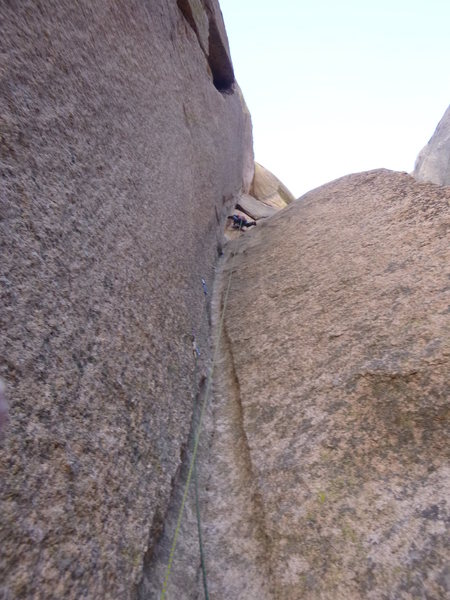Awesome groove climbing on pitch 2