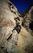 Rock Climbing Photo: Matt on the FA!!!!!