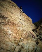 Rock Climbing Photo: Cruising slab in the sun!!