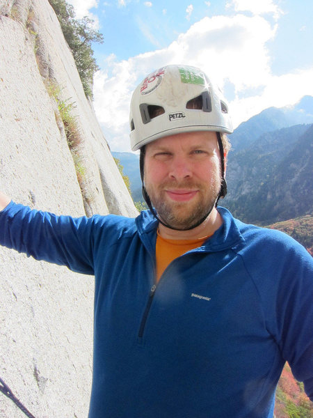 Nate Flink this is me, 2012 on Beckey's Wall, Little Cottonwood Canyon