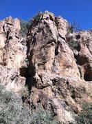 Rock Climbing Photo: Full Moon Wall:  Extreme Right.