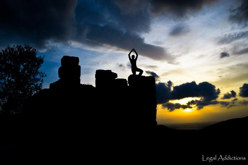 Rock Climbing Photo: Kastri castle Yoga