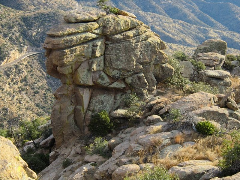 Rock Climbing Photo: This is the side you see when approaching.  Most o...