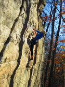 Rock Climbing Photo: Ali in perfect fall conditions