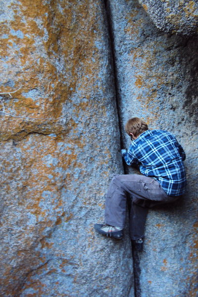 Rock Climbing Photo: I am not entirely sure if this is the crack listed...