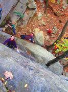 Rock Climbing Photo: Sheryl and Haley enjoying a beautiful fall day on ...