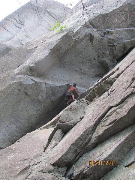 Ryan Myers climbing The Seal