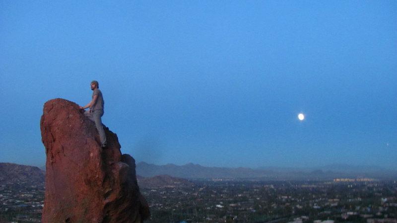 Moon rising at Camelback