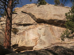 Rock Climbing Photo: Looking up at the route from the base.