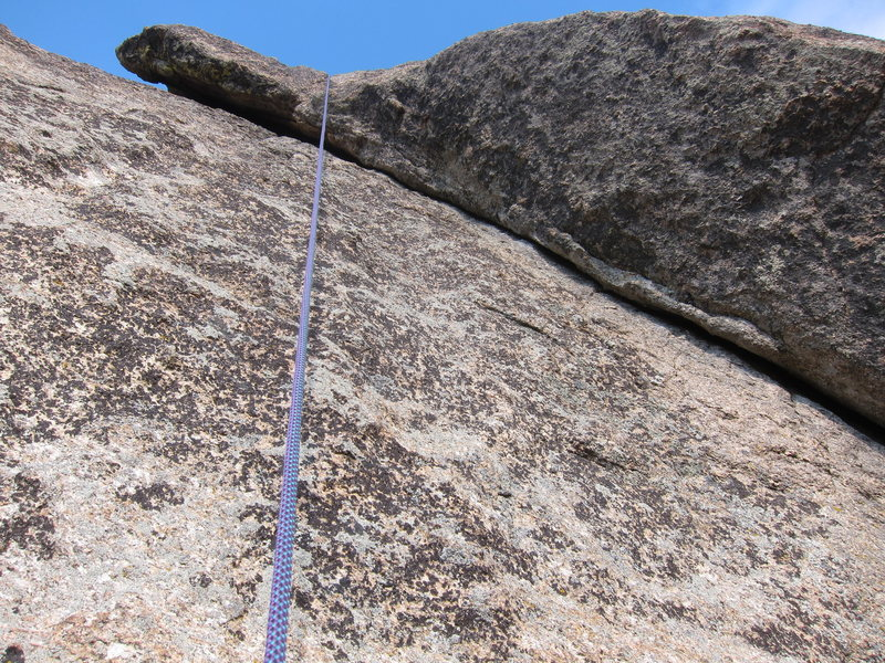 Up-close look at the dihedral (taken on rappel).