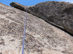 Rock Climbing Photo: Up-close look at the dihedral (taken on rappel).