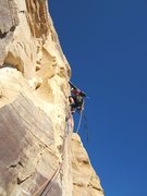 Rock Climbing Photo: Higher on P3
