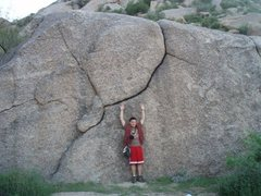 Rock Climbing Photo: My all time favorite boulder problem. This photo w...