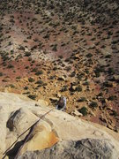 Rock Climbing Photo: Shingo arriving over the headwall.
