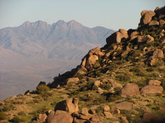 Rock Climbing Photo: View of Four Peaks from the McDowell Mtns