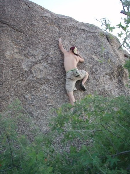 Craig Wilson bouldering in the McDowells