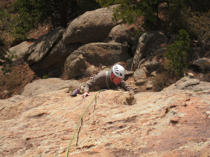 Rock Climbing Photo: Norman removing the last of my protection before t...