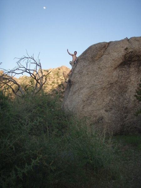 CW topping out on his proudest boulder problem