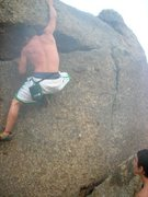 Rock Climbing Photo: Some cool bouldering to be found in the McDowells