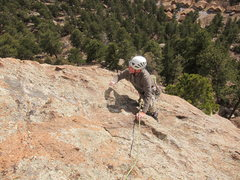 "Rock Climbing Photo: Norm on the ""Chickenhead Finish"" variati..."