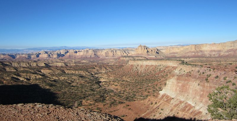 View from the base of the Towers towards Reds Canyon.