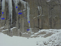Rock Climbing Photo: The Crazy Train (CT) area, a couple of weeks after...