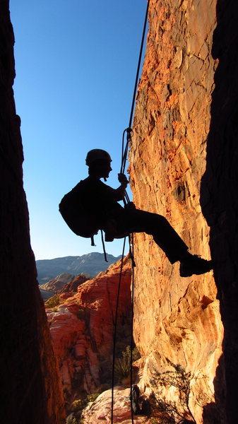 Rock Climbing Photo: Red Rocks Rappel