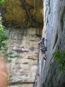 Rock Climbing Photo: Rob Rives leading Zag