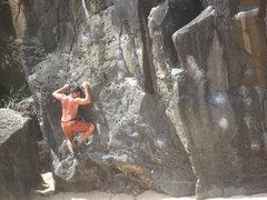 Rock Climbing Photo: Waimea Bay bouldering