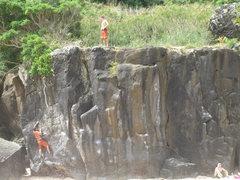 Rock Climbing Photo: Beach bouldering at its best!