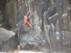 Rock Climbing Photo: Goin for it