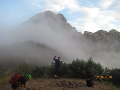 Rock Climbing Photo: Four Peaks on an awesome stormy day.