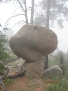 Rock Climbing Photo: Cool looking boulder in the Four Peaks Wilderness