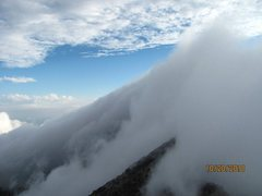 Rock Climbing Photo: Clouds engulfing Four Peaks