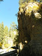 """Rock Climbing Photo: The """"There is no way this is a 5.10"""" Cra..."""