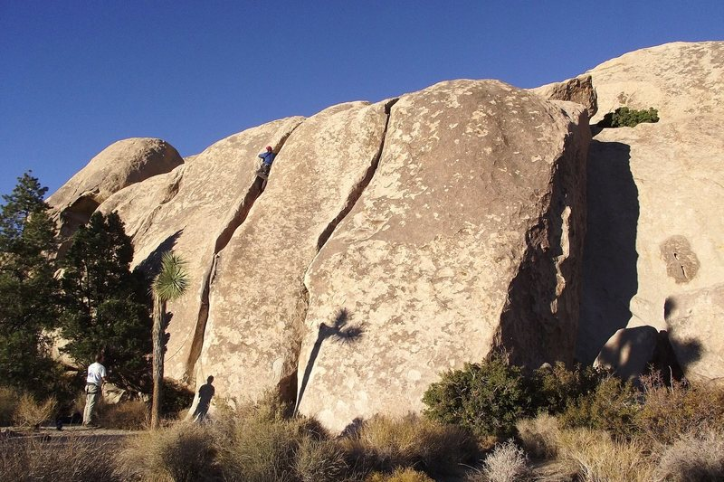 Rock Climbing Photo: The Peyote Cracks in the late afternoon sun. A con...