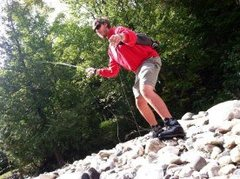 Rock Climbing Photo: Fly Fishing is my passion