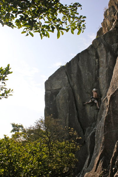 Rock Climbing Photo: Joe on Spitting Cobra