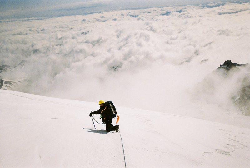 Rock Climbing Photo: Descending the DC, Rainier