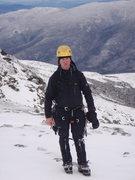 Rock Climbing Photo: At the top of Pinnacle Gully, Mt.Washington, NH