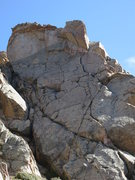 Rock Climbing Photo: Muff Mongler takes the prominent crack system thro...