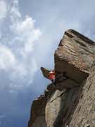Rock Climbing Photo: Ken Thompson on the roof.