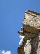Rock Climbing Photo: Ken pulling the roof.